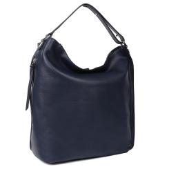 Женская сумка трансформер из натуральной кожи, синего цвета, с одним отделением от Leo Ventoni, арт. 23004546-Blue