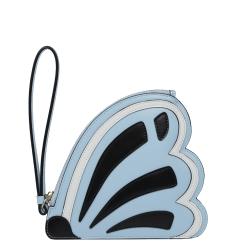 Эксклюзивный женский кошелек голубого цвета с черно-белыми вставками от Leo Ventoni, арт. L330991-l.blue