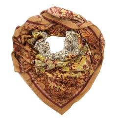 Женский платок из натуральной шерсти бежевого цвета от Leo Ventoni, арт. A80117/4
