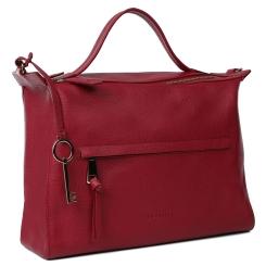 Женская сумка в классическом стиле из натуральной кожи красного цвета от Leo Ventoni, арт. 23004518-Rosso