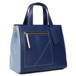Женская сумка в классическом стиле из натуральной кожи синего цвета от Leo Ventoni, арт. 23004533-blue