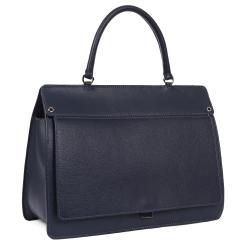 Женская сумка в классическом стиле из натуральной кожи синего цвета от Leo Ventoni, арт. 23004534-blue