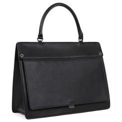 Женская сумка в классическом стиле из натуральной кожи черного цвета от Leo Ventoni, арт. 23004534-nero