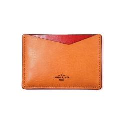 Чехол-кармашек для паспорта, пошитый из светло-коричневой кожи от Long River, арт. PK-030