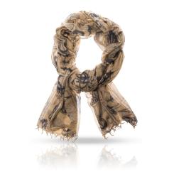 Женский палантин из натуральной шерсти с эффектной вышивкой от Michel Katana, арт. W-ARISTOTOL/YELLOW