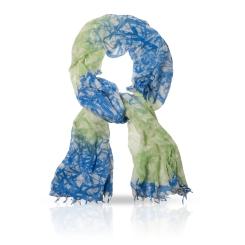 Сине-бежевый женский палантин из натуральной шерсти от Michel Katana, арт. W-BAMBOO/BLU