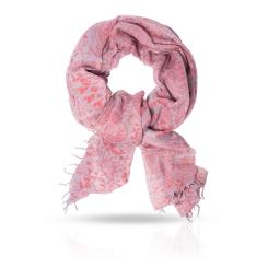 Красивый женский палантин из натуральной шерсти нежного розового цвета от Michel Katana, арт. W-MOSAIC/CORAL
