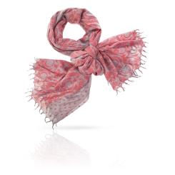 Нежный женский палантин из натуральной шерсти цвета пыльной розы от Michel Katana, арт. W-ROMAN/SILVER
