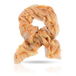 Женский палантин из натуральной шерсти красивого персикового цвета от Michel Katana, арт. W-STAMP/WHITE
