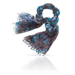 Женский палантин из натуральной шерсти, модель с великолепным узором от Michel Katana, арт. ZW-DENSE.FLORAL/BLACK