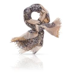 Красивый женский палантин из натуральной шерсти с узором от Michel Katana, арт. ZW-SPIRAL.PETITE/CREAM