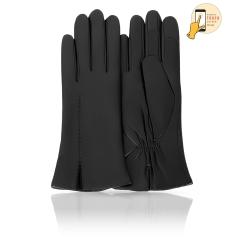 Женские перчатки из натуральной кожи ягненка черного цвета от Michel Katana, арт. i.K11-ACILY/NOIR