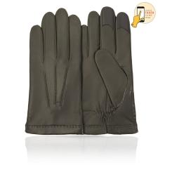 Стильные сенсорные мужские перчатки, из натуральной кожи ягненка оливкового цвета от Michel Katana, арт. i.K11-BROL/OLIVE