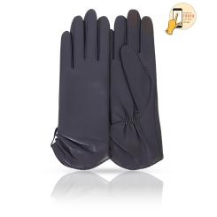 Сенсорные женские кожаные перчатки, классическая модель синего цвета от Michel Katana, арт. i.K11-ETOILE/NAVY