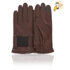 Сенсорные мужские перчатки из натуральной кожи ягненка коричневого цвета от Michel Katana, арт. i.K12-DOVER/GORJ