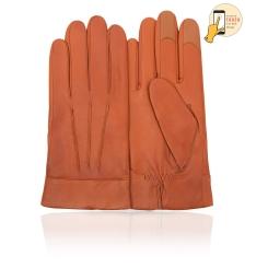 Сенсорные перчатки из натуральной кожи ягненка рыжеватого оттенка от Michel Katana, арт. i.K13-TRIJON/TABACCO