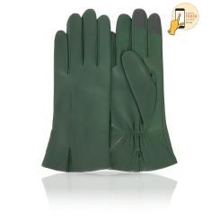 Классические женские перчатки из зеленой натуральной кожи ягненка от Michel Katana, арт. i.K81-ACILY/EMER