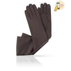 Сенсорные перчатки из натуральной кожи ягненка цвета хаки от Michel Katana, арт. i.K81-ANE_27/KAKY