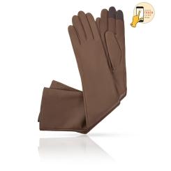 Сенсорные длинные перчатки из натуральной кожи ягненка, светло-коричневого цвета от Michel Katana, арт. i.K81-ANE_32/MUCCA
