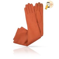 Оранжевые сенсорные перчатки из натуральной кожи ягненка от Michel Katana, арт. i.K81-ANE_32/TAB