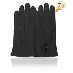 Сенсорные мужские перчатки из натуральной кожи ягненка черного цвета от Michel Katana, арт. i.K86-BERGER/BL