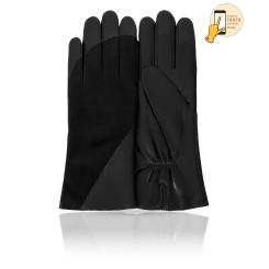 Сенсорные женские перчатки в классическом стиле, модель черного цвета от Michel Katana, арт. i.KLS13-GABREE/BL
