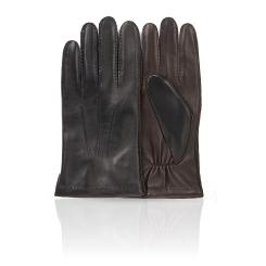 Мужские перчатки из натуральной кожи ягненка черного и коричневого цвета от Michel Katana, арт. K100-ATO/BL.BR