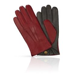 Мужские перчатки из натуральной кожи ягненка бордового цвета от Michel Katana, арт. K100-BART/BORD.GR