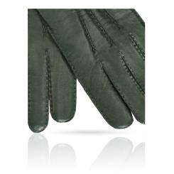 Мужские перчатки из натуральной кожи ягненка серого и зеленого цвета от Michel Katana, арт. K100-BART/CON.GR