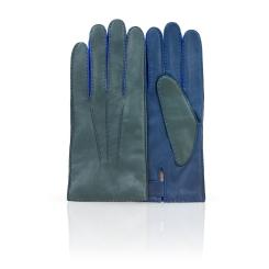 Мужские перчатки из натуральной кожи ягненка синего цвета от Michel Katana, арт. K100-BART/LICH.T