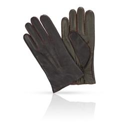 Мужские перчатки из натуральной кожи ягненка темно синего цвета от Michel Katana, арт. K100-BART/NAVY.GR