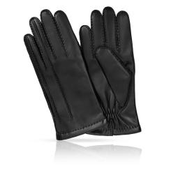 Классические мужские перчатки из натуральной кожи ягненка черного цвета от Michel Katana, арт. K100-MEZIER/BL