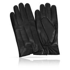 Стильные перчатки из натуральной кожи с шерстяной подкладкой от Michel Katana, арт. K100-MONCEAU/BL
