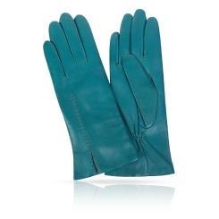 Женские перчатки из натуральной кожи ягненка цвета морской волны от Michel Katana, арт. K11-ACILY/PEAC