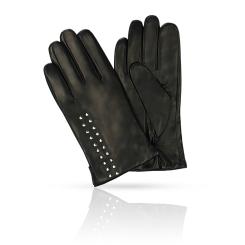 Перчатки из натуральной кожи ягненка, декорированы металлическими заклепками от Michel Katana, арт. K11-BOUVELL/BL