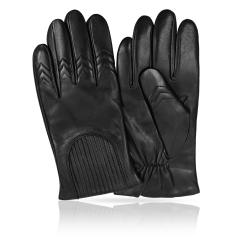 Классические перчатки из натуральной кожи ягненка с шерстяной подкладкой от Michel Katana, арт. K11-CAVILE/BL