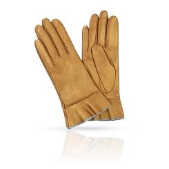 Золотистые женские перчатки из натуральной плотной кожи ягненка от Michel Katana, арт. K11-FINOUGE/P.BRONZ