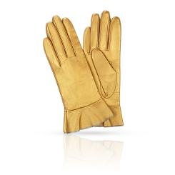 Классически золотистые женские перчатки из натуральной кожи от Michel Katana, арт. K11-FINOUGE/P.ORO