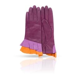 Женские перчатки из натуральной кожи ягненка сиреневого цвета от Michel Katana, арт. K11-GERE/BAI2