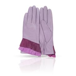 Женские перчатки из натуральной кожи ягненка сиреневого цвета от Michel Katana, арт. K11-GERE/LIL2
