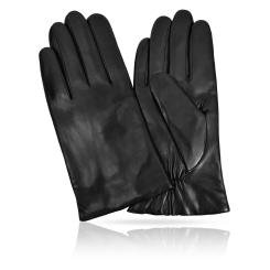Мужские перчатки из натуральной кожи ягненка с шерстяной подкладкой от Michel Katana, арт. K11-PORINGE/BL