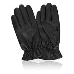 Перчатки из натуральной кожи ягненка, модель со стильной манжетой от Michel Katana, арт. K11-TULLYER/BL