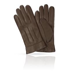 Мужские перчатки из натуральной кожи ягненка коричневого цвета от Michel Katana, арт. K12-DIJON/COFFEE