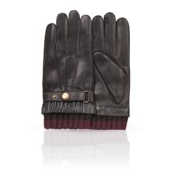 Мужские перчатки из натуральной кожи ягненка коричневого цвета от Michel Katana, арт. K12-JUR/BR
