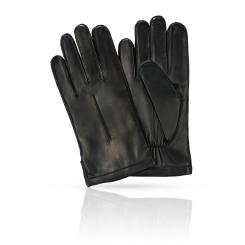 Классические черные мужские перчатки из натуральной плотной кожи ягненка от Michel Katana, арт. K12-NANCY/BL