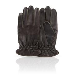Мужские перчатки из натуральной кожи ягненка коричневого цвета от Michel Katana, арт. K12-NANT/BR