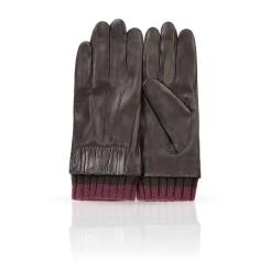 Женские перчатки из натуральной кожи ягненка с шерстяной подкладкой от Michel Katana, арт. K13-JAU/BR