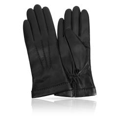 Женские перчатки из натуральной кожи ягненка черного цвета от Michel Katana, арт. K13-TRELLE/BL