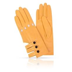 Женские перчатки из натуральной кожи ягненка с открытой манжетой от Michel Katana, арт. K81-AORY/OLD