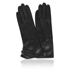 Женские перчатки из натуральной кожи ягненка черного цвета от Michel Katana, арт. K81-ASTREY/BL
